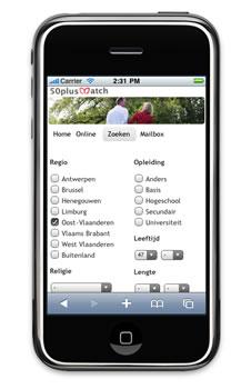 Mobiele site 50plusmatch.be