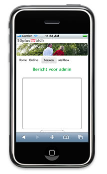 Mobiele site 50plusmatch.be