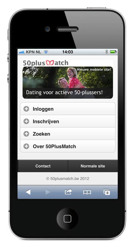 Nieuwe mobiele website